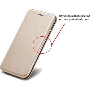 Ntech Ntech Luxe Goud TPU / PU Leder Flip Cover met Magneetsluiting Samsung Galaxy A70