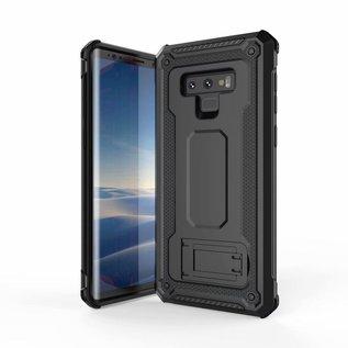 Ntech Ntech Samsung Galaxy Note 9 Dual layer Rugged Armor hoesje met Sta-Funtie /  Hard PC & TPU Hybrid case - Zwart