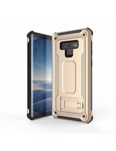 Ntech Ntech Samsung Galaxy Note 9 Armor hoesje met Kickstand - Goud