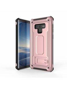 Ntech Ntech Samsung Galaxy Note 9 Armor hoesje met Kickstand - Rose Goud