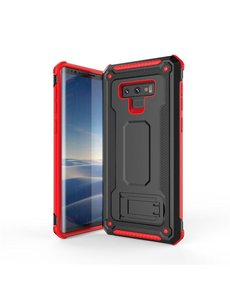 Ntech Ntech Samsung Galaxy Note 9 Armor hoesje met Kickstand Zwart & Rood