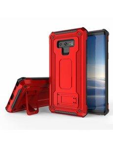 Ntech Ntech Samsung Galaxy Note 9 Armor hoesje met Kickstand - Rood
