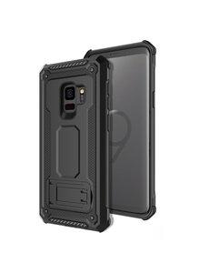 Ntech Ntech Samsung Galaxy S9 Armor hoesje met Kickstand - Zwart