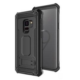 Ntech Ntech Samsung Galaxy S9 Armor Hoesje met Sta-Functie - Zwart
