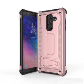 Ntech Ntech Samsung Galaxy A6 2018 Armor Hoesje met Sta-Funtie - Rose Goud