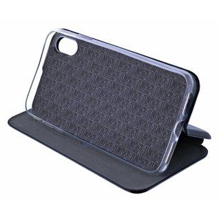 Ntech Ntech Huawei P30 Lite Luxe Zwart TPU / Kunststof Flip Cover met Magneetsluiting