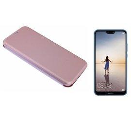 Ntech Ntech Huawei P30 Lite Luxe Rose Goud TPU / Kunststof Flip Cover met Magneetsluiting