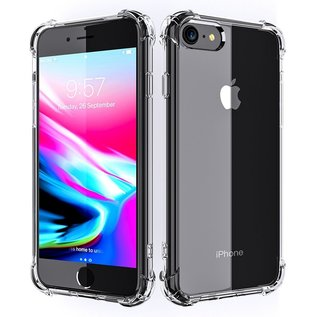 Ntech Ntech Apple iPhone 8 / 7 Screen Protector-9H Tempered Glass + Anti Shock Hoesje Transparant TPU Siliconen Soft Case