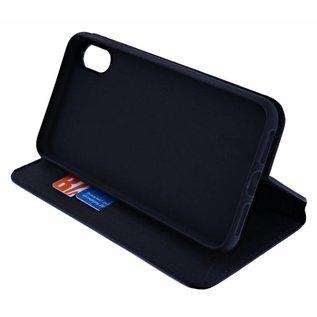 Ntech Ntech Apple iPhone Xr Luxe Portemonnee hoesje Furlo Design met Sta-Functie - Zwart