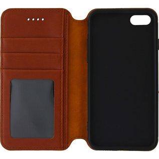 Ntech Ntech Apple iPhone Xr Luxe Portemonnee hoesje Furlo Design met Sta-Functie - Bruin