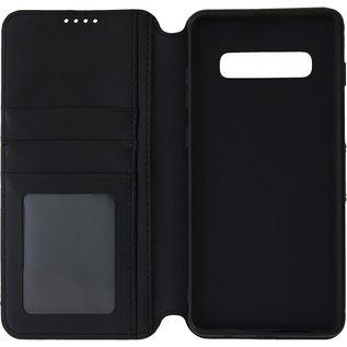 Ntech Ntech Samsung Galaxy S10+ Luxe Portemonnee hoesje Furlo Design met Sta-Functie - Zwart