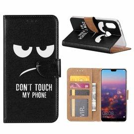 Ntech Ntech Samsung Galaxy A40  Quote & Print Design Booktype Kunstleer Hoesje Met Pasjesruimte