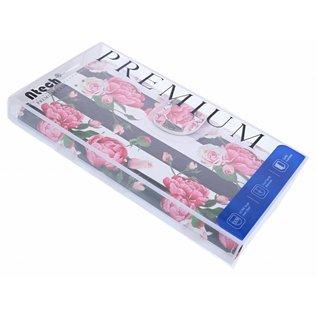 Ntech Ntech Huawei P30 Pro Vintage Roses & Stripes Design Boek Hoesje Met Pasjesruimte & flapje