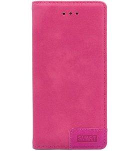 Merkloos Smart Luxe Roze TPU / PU Leder Flip Cover met Magneetsluiting voor Samsung Galaxy S10