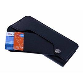 Ntech Ntech Huawei P30 Flip Cover met Magneet flapje en Uitschuifbare Kaartenhouder Zwart