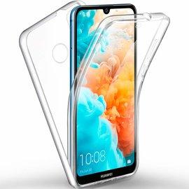 Ntech Ntech Huawei Y6 / Y6 Pro (2019) Dual TPU Case hoesje 360° Cover 2 in 1 Case ( Voor en Achter) Transparant