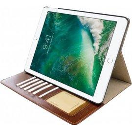 Ntech Ntech Apple iPad 9.7 (2018-2017) Premium Luxe hoesje Folio Cover hoesje Met 6 Pasjesruimte Bruin