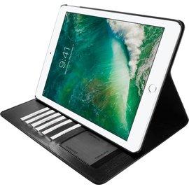Ntech Ntech Apple iPad 9.7 (2018-2017) Premium Luxe hoesje Folio Cover hoesje Met 6 Pasjesruimte Zwart