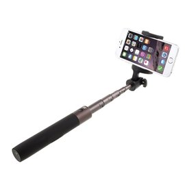 Ntech Ntech 3 in 1 Bluetooth Selfie Stick Foldable Monopod Apple iPhone Xs(Max)/ Samsung Galaxy S10(+)/Huawei P30 Pro - Zwart