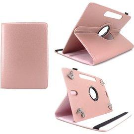 Ntech Ntech Universele Tablet Hoes 10 inch Tablet  360° draaibaar - Rose Goud