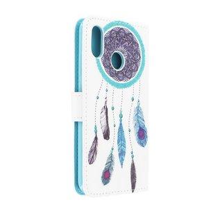 Ntech Ntech Dromenvanger Design Boek Hoesje Met Pasjesruimte & Magneet flapje - Samsung Galaxy A20e
