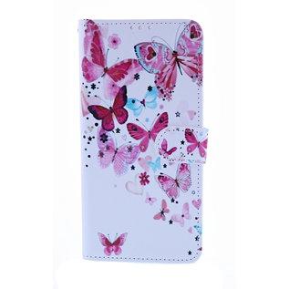 Ntech Ntech Vlinder Fashion Portemonnee | Boek Hoesje | Pasjesruimte - Samsung Galaxy A50