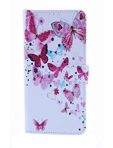 Ntech Ntech Vlinder Fashion Portemonnee   Boek Hoesje - Samsung Galaxy A10
