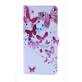 Ntech Ntech Vlinder Fashion Portemonnee   Boek Hoesje   Pasjesruimte - Samsung Galaxy A10