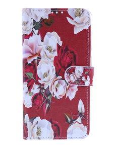 Ntech Ntech Royal Rose Portemonnee   Boek Hoesje - Samsung Galaxy A10