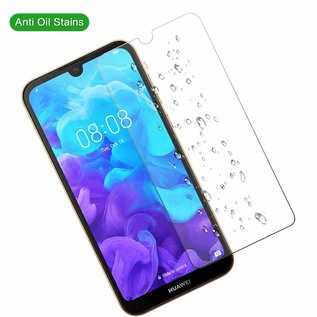 Ntech Ntech 2 Pack Huawei Y5 (2019) Screenprotector-9H HD clarity Hardness Tempered Glass