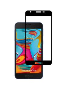 Ntech Ntech Samsung Galaxy A2 Core full cover Screenprotector Tempered Glass - Zwart