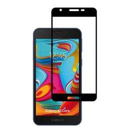 Ntech Ntech Samsung Galaxy A2 Core full cover Screen Protector-9H HD clarity Hardness Tempered Glass - Zwart