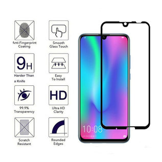 Ntech Ntech Huawei P Smart Plus (2019) full cover Screen Protector-9H HD clarity Hardness Tempered Glass - Zwart