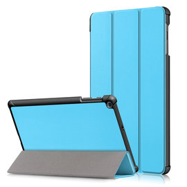 Ntech Ntech Samsung Galaxy Tab A 10.1 (2019) T510  Smart hoes Tri-Fold Cover Torquoise