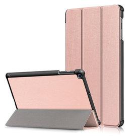 Ntech Ntech Samsung Galaxy Tab A 10.1 (2019) T510  Smart hoes Tri-Fold Cover Rose Goud