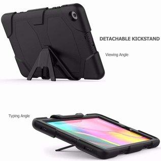 Ntech Ntech Samsung Galaxy A 10.1 (2019) T510 Extreme Armor hoesje met standaard & 3 lagen shockproof Case-Zwart