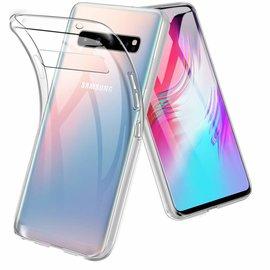 Ntech Ntech Samsung Galaxy S10 5G Flexibel Hard Case Crystal Clear TPU Hoesje - Transparent