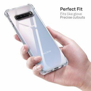 Ntech Ntech Samsung Galaxy S10 5G Transparant Anti Burst Hoesje / Shock Proof Crystal Clear TPU Case