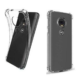 Ntech Ntech Motorola Moto G7 Play Transparant Anti Burst Hoesje / Hard Shock Proof Crystal Clear TPU Case