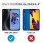 Ntech Ntech 2 Pack Huawei P20 lite (2019) Screenprotector-9H HD clarity Hardness Tempered Glass