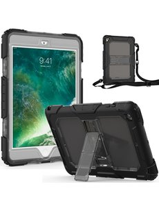 Ntech Ntech Apple iPad Mini 1/2/3 Armor Case met Draagriem - Zwart