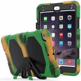 Ntech Ntech Apple iPad mini 4 Extreme Armor hoesje met standaard & 3 lagen shockproof Case Camouflage Groen