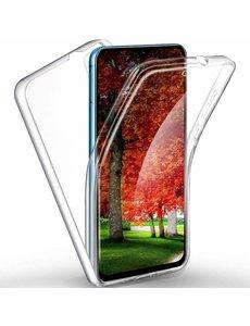 Ntech Ntech Samsung Galaxy A2 Core Dual TPU Case hoesje 360° Cover 2 in 1 Case ( Voor en Achter) Transparant