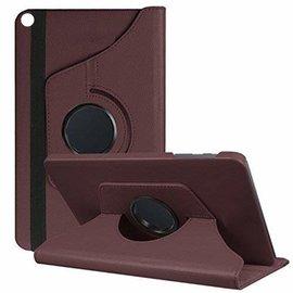 Ntech Ntech Samsung Galaxy Tab S5e SM-T720/T725 Draaibaar Hoesje 360 Rotating Multi stand Case - Bruin