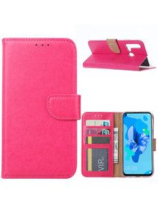 Ntech Ntech Huawei P20 lite (2019) Portemonnee / Booktype Hoesje - Pink/Roze