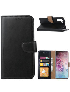 Ntech Ntech Samsung Galaxy Note 10 Portemonnee / Booktype hoesje - Zwart