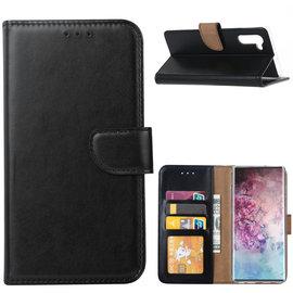 Ntech Ntech Hoesje voor - Samsung Galaxy Note10 Portemonnee / Booktype hoesje - Zwart