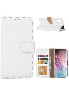 Ntech Ntech Samsung Galaxy Note 10 Portemonnee / Booktype hoesje - Wit