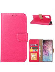 Ntech Ntech Samsung Galaxy Note 10 Portemonnee / Booktype hoesje - Pink/Roze