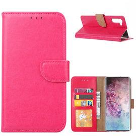 Ntech Ntech Hoesje voor - Samsung Galaxy Note10 Portemonnee / Booktype hoesje - Pink/Roze